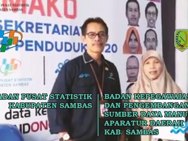 Testimoni Kepala BKPSDM Kabupaten Sambas pada saat Pengisian Sensus Penduduk Online di Kantor Badan Pusat Statistik Kabupaten Sambas