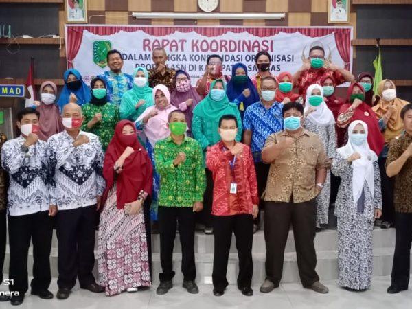 Rapat Koordinasi dalam Rangka Konsolidasi Organisasi Profesi ASN di Lingkungan Pemerintah Kabupaten Sambas