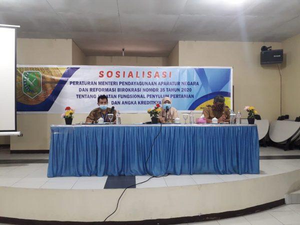 SOSIALISASI PERMENPAN RB NOMOR 35 TAHUN 2020 TENTANG JABATAN FUNGSIONAL PENYULUH PERTANIAN